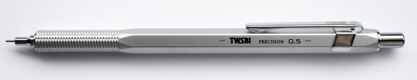 TWSBI Precision Mechanical Pencil, 0.5 mm, silver, retractable tip